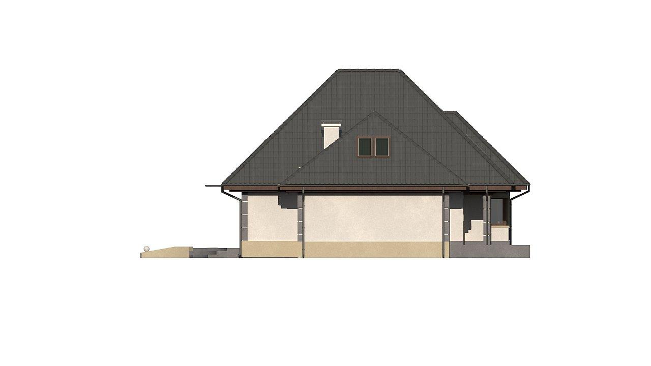 Вариант мансардного дома Z48 без гаража - фото 5