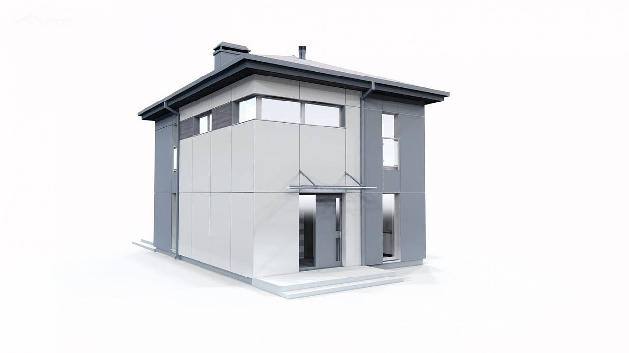 Современный проект дома с 3 спальнями 12