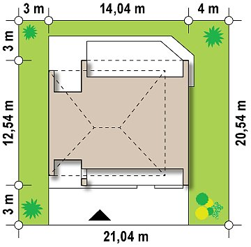 Просторный и комфортный двухэтажный дом с большими окнами. план помещений 1