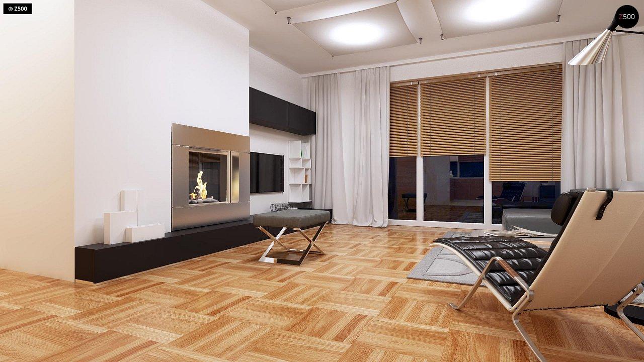 Компактный одноэтажный дом простой формы с возможностью обустройства чердачного помещения. 5