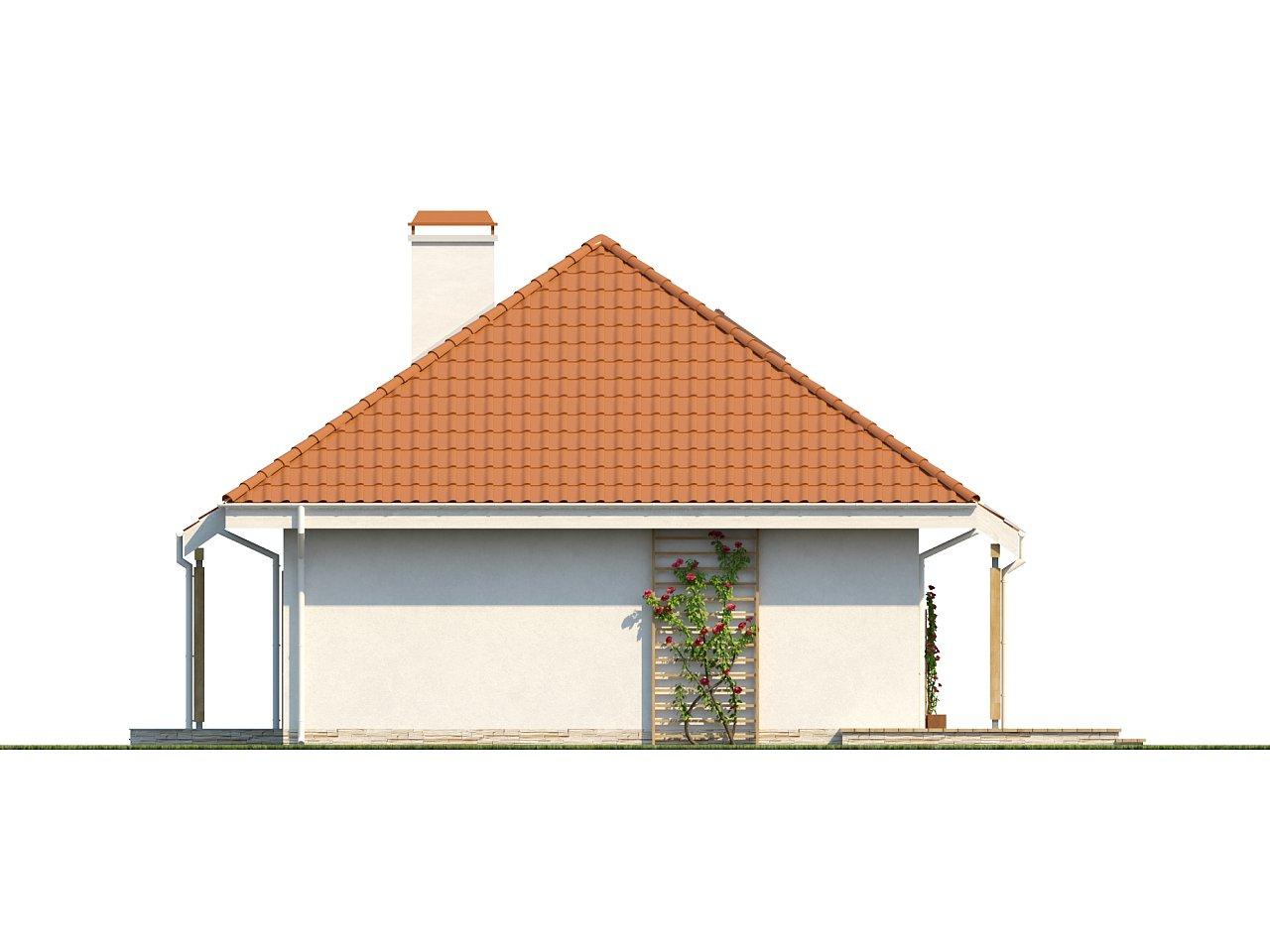 Одноэтажный дом в традиционном стиле с возможностью обустройства чердачного помещения. - фото 4
