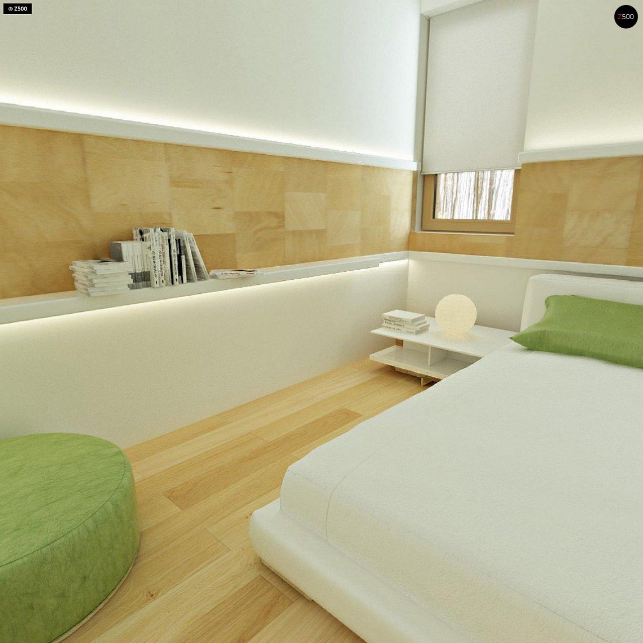 Двухэтажный дом, сочетающий традиционные формы и современный дизайн, с тремя спальнями и гаражом. 13