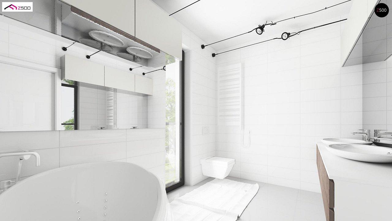Просторный и комфортный двухэтажный дом с большими окнами. 7