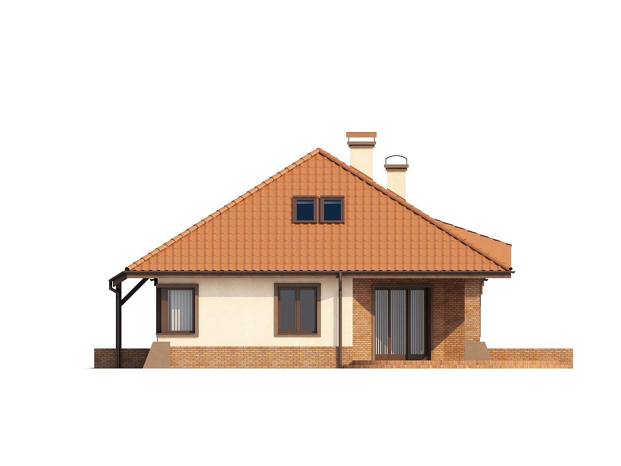 Просторный дом с гаражом, большим хозяйственным помещением и угловой террасой. - фото 6