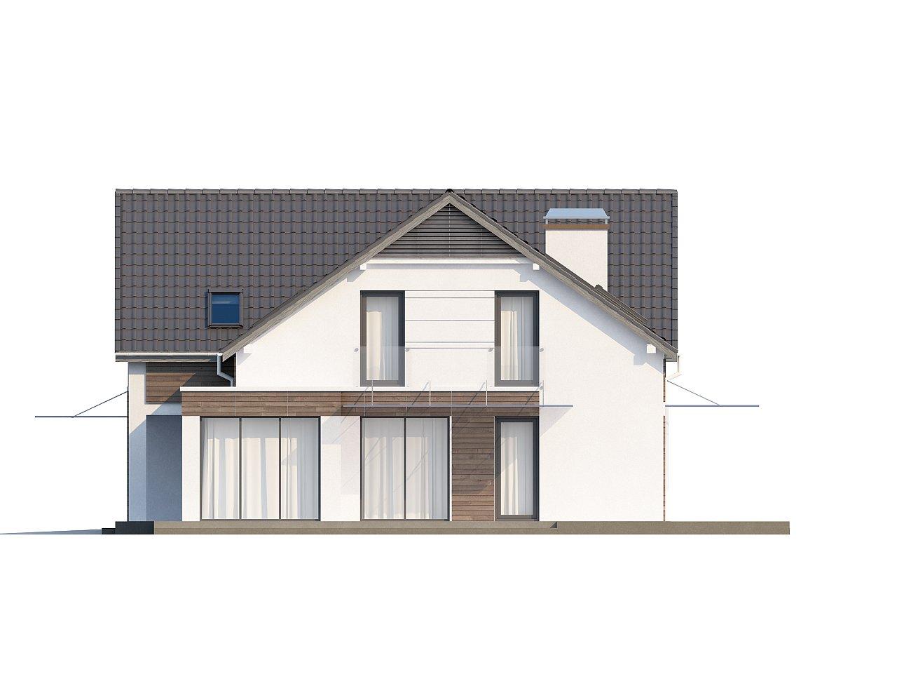 Просторный и комфортный дом с гаражом для двух автомобилей и угловым эркером. 6