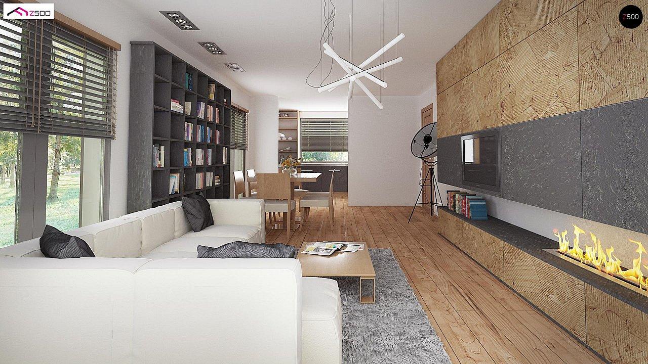 Одноэтажный дом в современном стиле с двойным гаражом 13