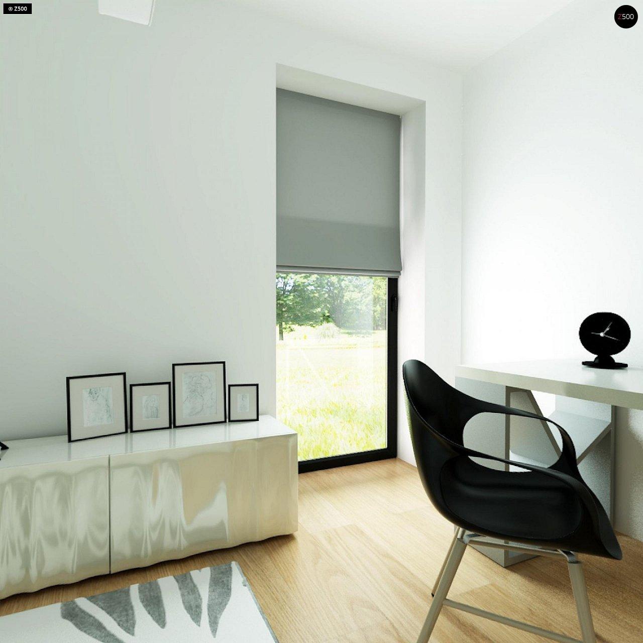 Современный комфортабельный одноэтажный дом с функциональным интерьером и уютной террасой. 24