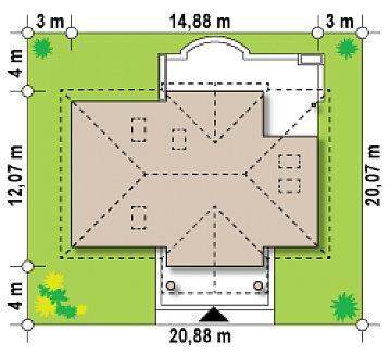 Проект в стиле дворянской усадьбы с возможностью обустройства чердачного помещения. план помещений 1