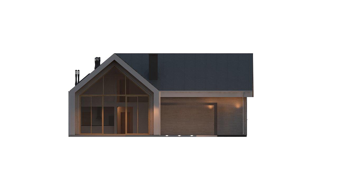 Современный мансардный дом с гаражом на две машины - фото 8