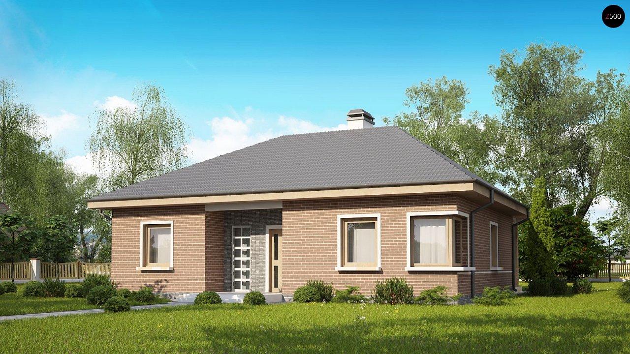 Версия проекта Z24 с кирпичными фасадами. - фото 2