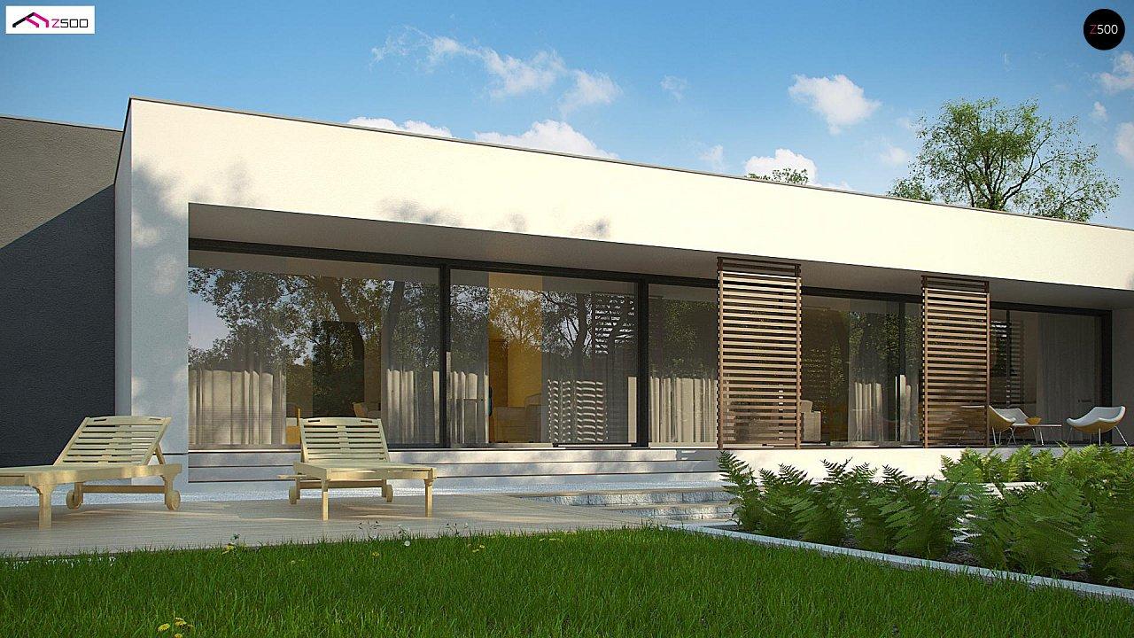 Современный дом с 4 спальнями, гаражом на 2 машины и большими окнами 5