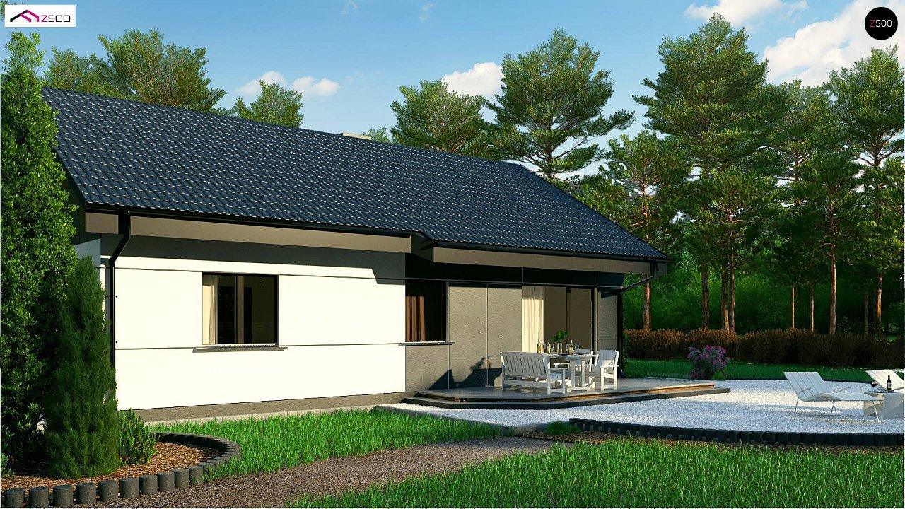 Проект одноэтажного дома традиционной формы с современным экстерьером. 6