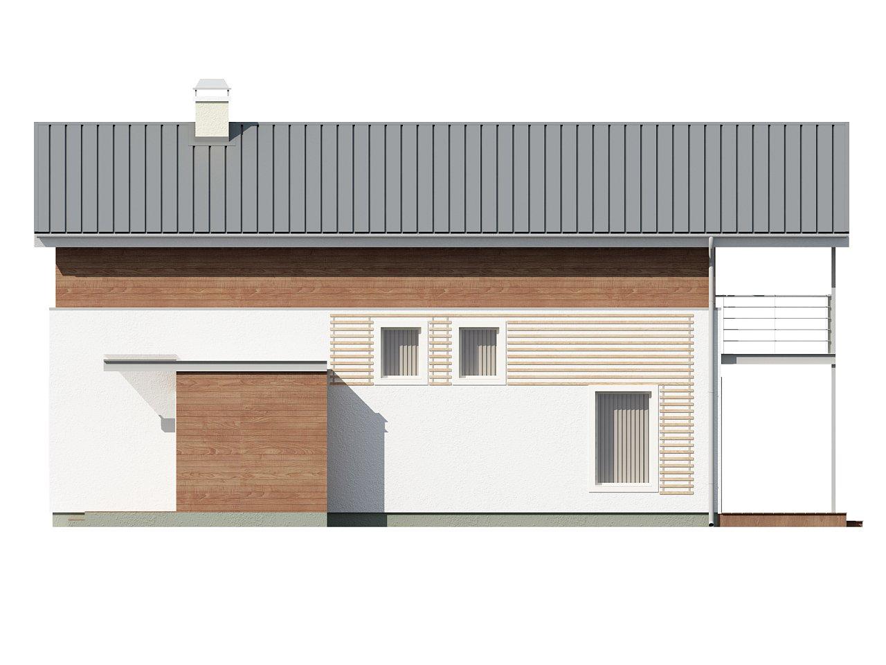 Проект двухэтажного дома для очень узкого участка. - фото 5