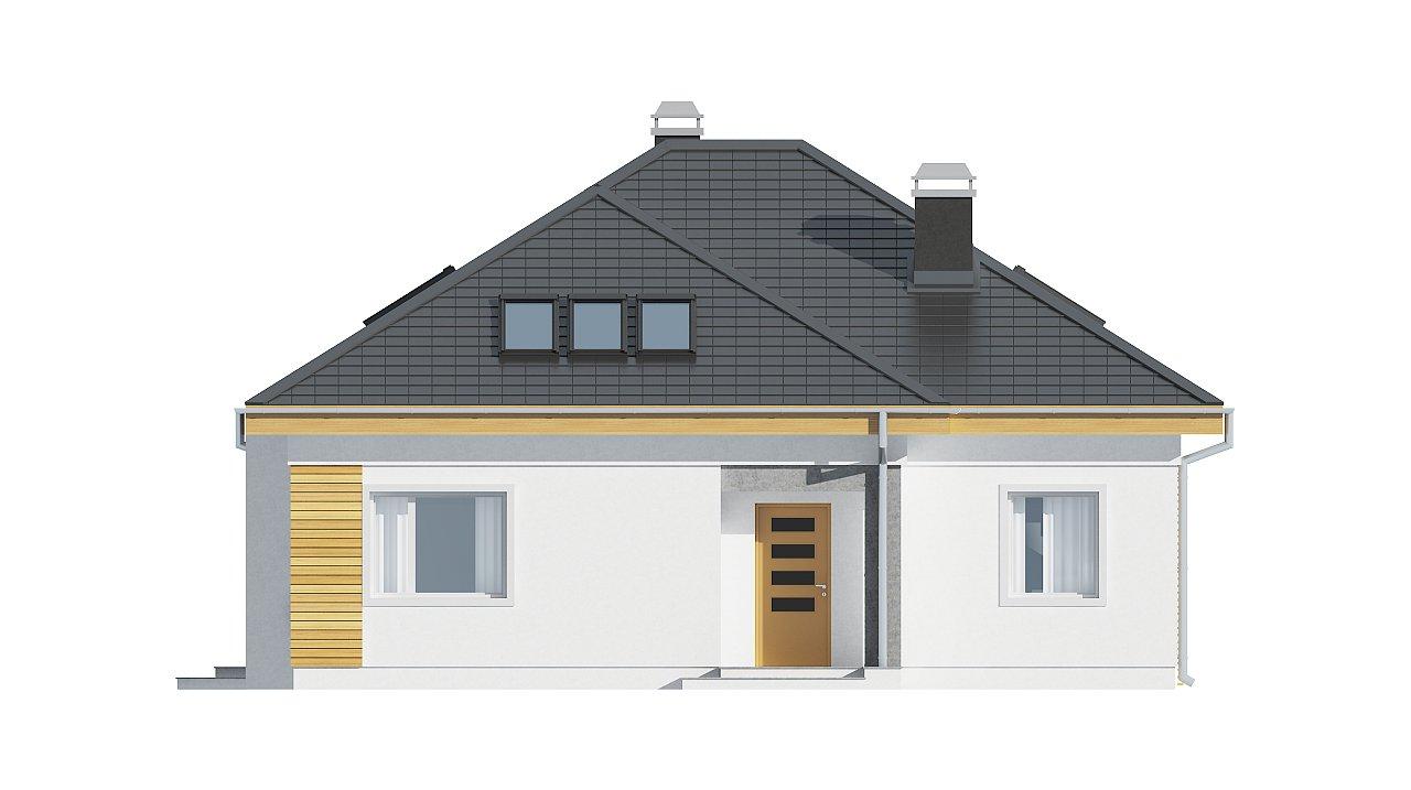 Удобный функциональный дом с двумя дополнительными комнатами на первом этаже. - фото 3