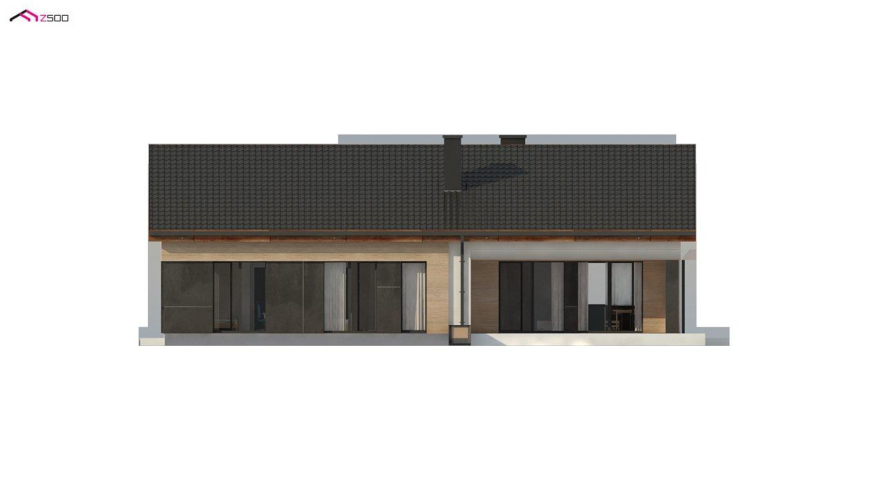 Стильный одноэтажный дом с двускатной кровлей и грамотной планировкой 17