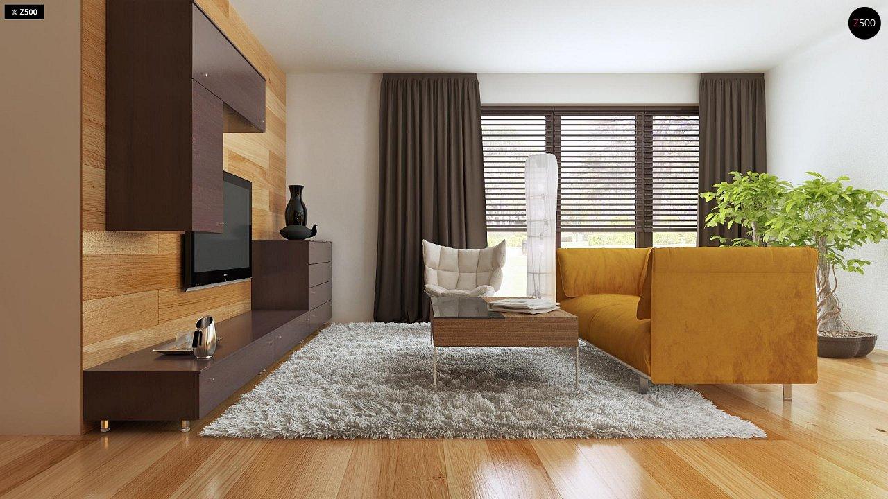 Небольшой дом с дополнительной комнатой на первом этаже, большим хозяйственным помещением и эркером в столовой. 5
