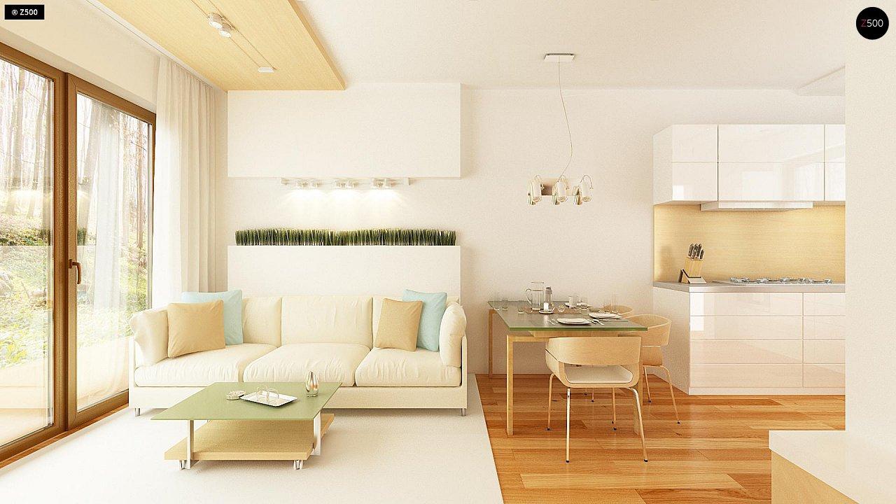 Простой и недорогой в строительстве одноэтажный дом небольшой площади. 4