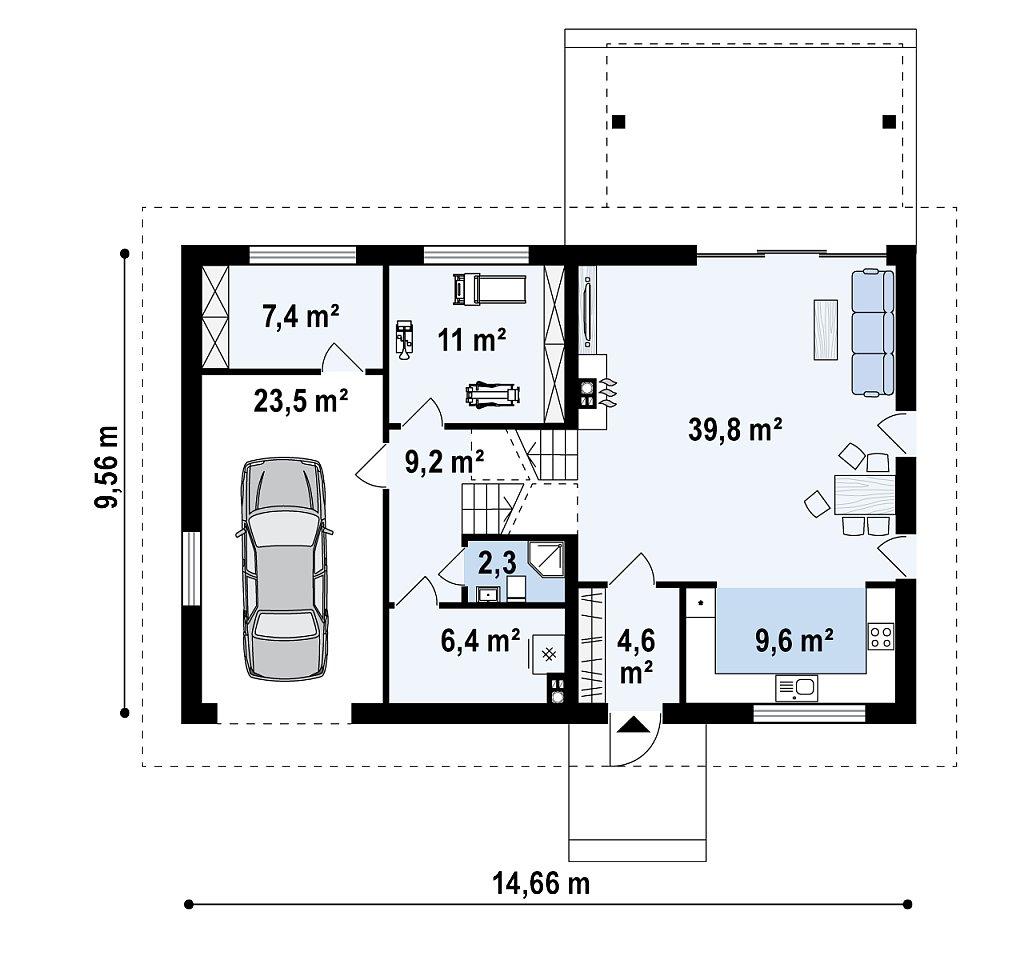 Аккуратный дом с тренажерным залом. план помещений 1