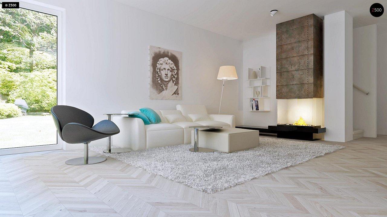 Проект компактного двухэтажного дома строгого современного стиля. 4