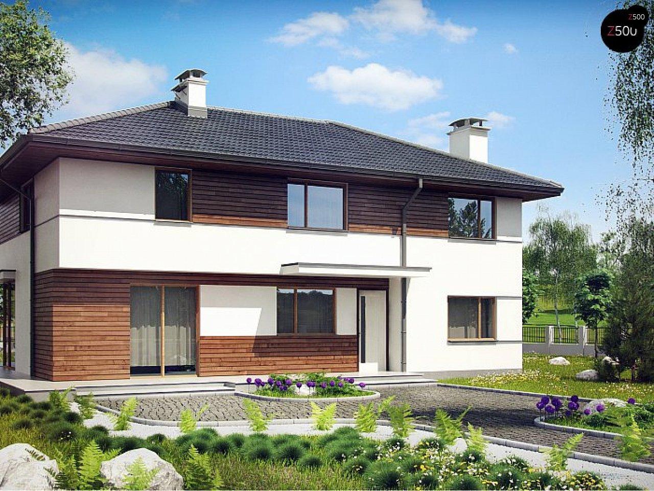 Вариант Z159 просторного двухэтажного дома с плитами перекрытия 1
