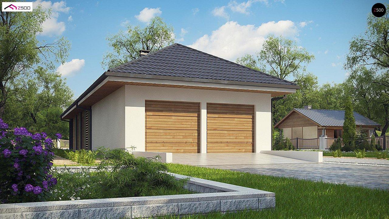 Одноэтажный дом в современном стиле с двойным гаражом 2
