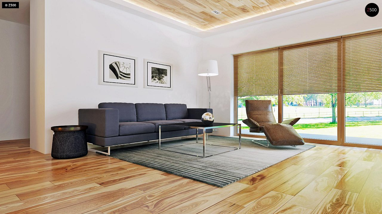 Небольшой дом из газобетона в стиле хай-тек — элегантный, практичный и экономичный. - фото 5