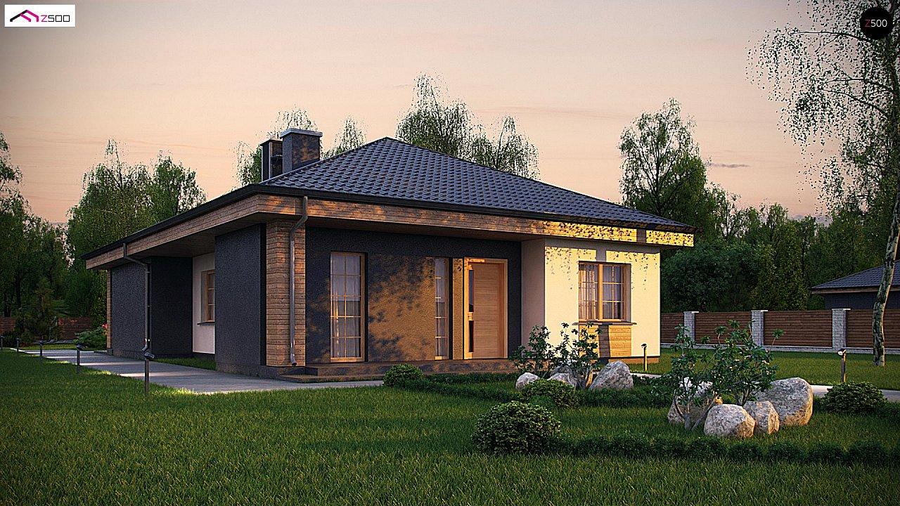 Красивый одноэтажный дом с удобной планировкой 1