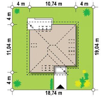Версия проекта Z64 с жилой мансардой. план помещений 1