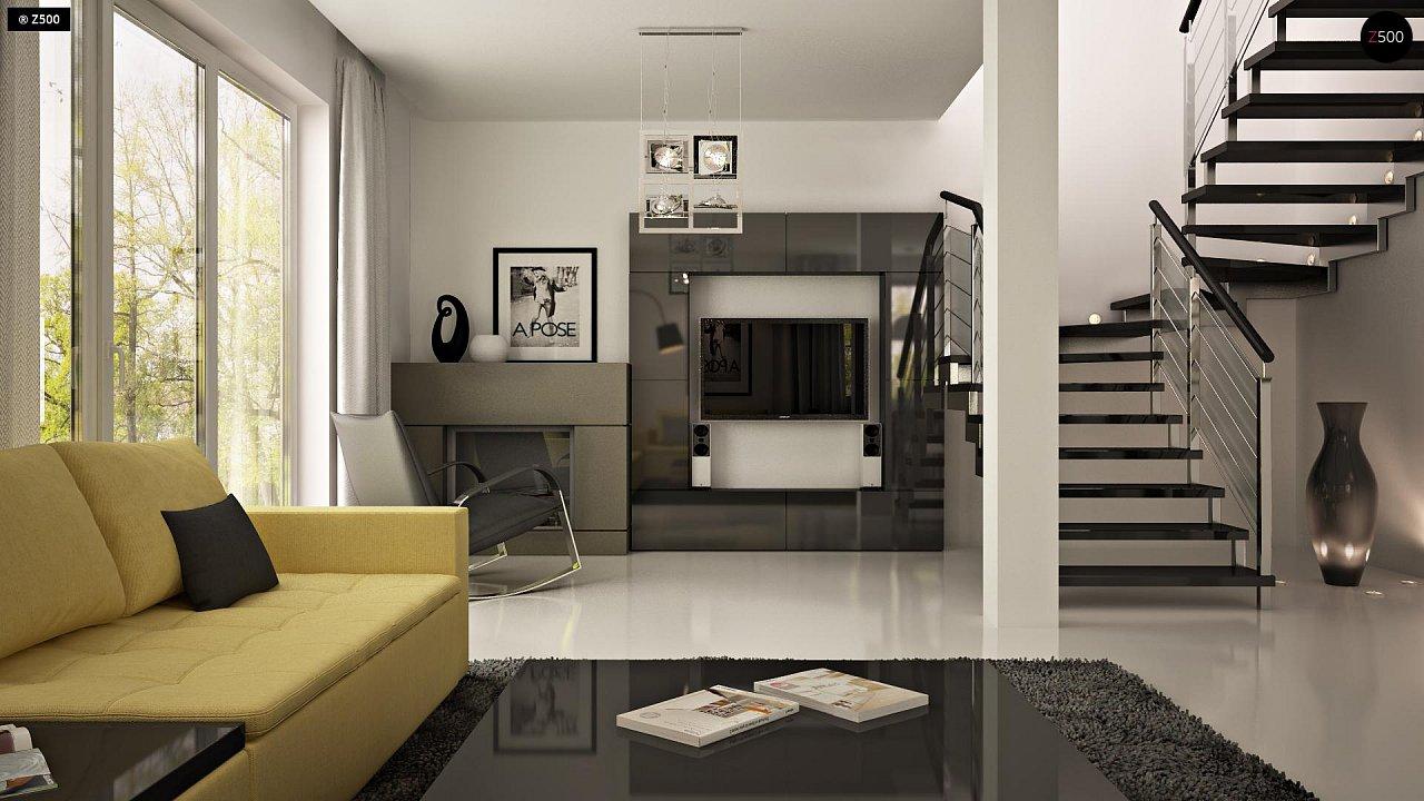 Практичный аккуратный дом с мансардой, со встроенным гаражом для одной машины. - фото 4