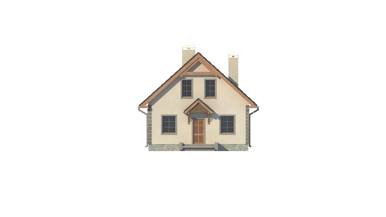 Версия проекта дома Z1 без люкарен. 25