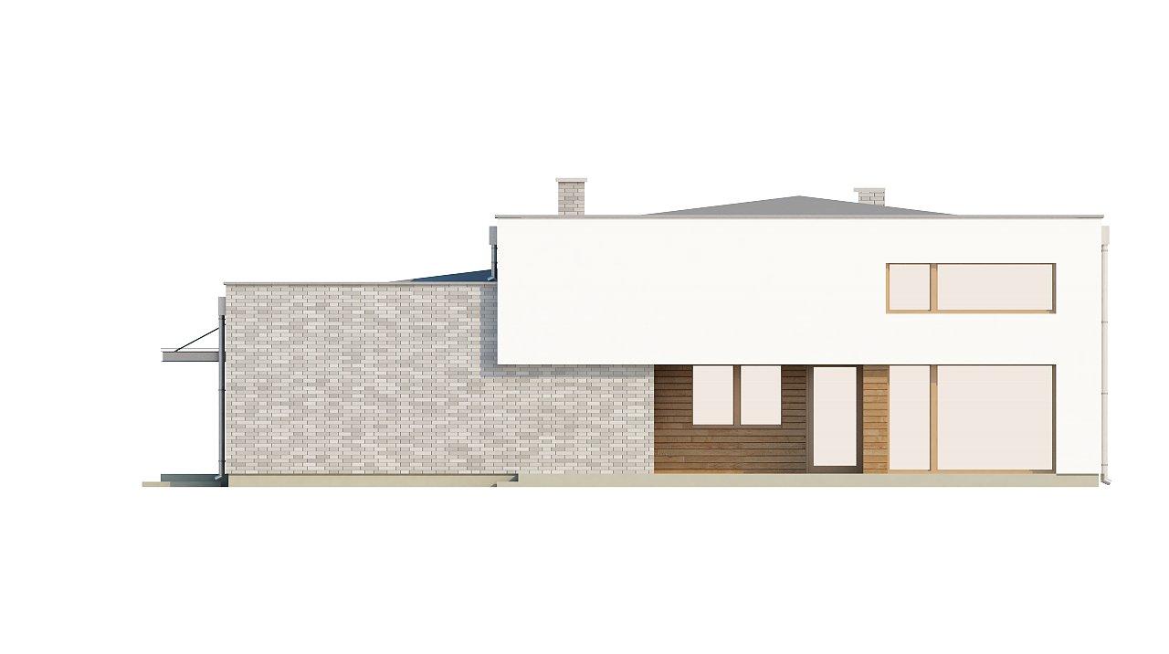 Одноэтажный практичный дом с плоской крышей современного дизайна. 13