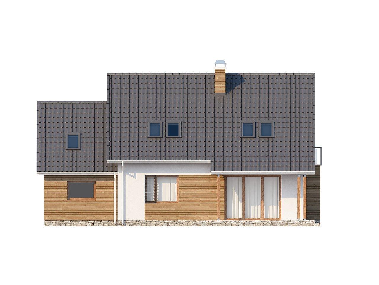 Проект функционального и удобного дома с комнатой над гаражом. 22