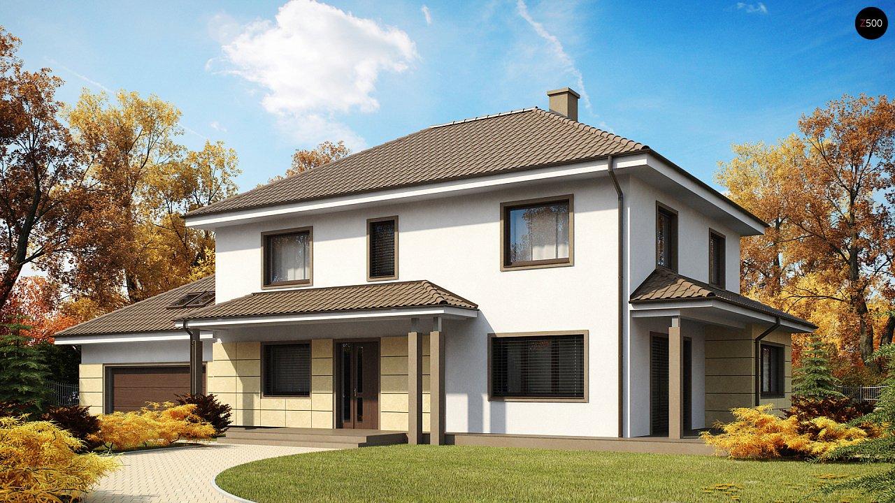 Просторный и функциональный двухэтажный дом с многоскатной кровлей и гаражом. - фото 1