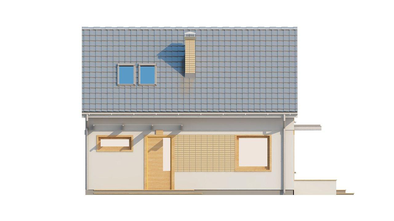 Компактный дом с дополнительной спальней на первом этаже, простой в строительстве, недорогой в эксплуатации. 22