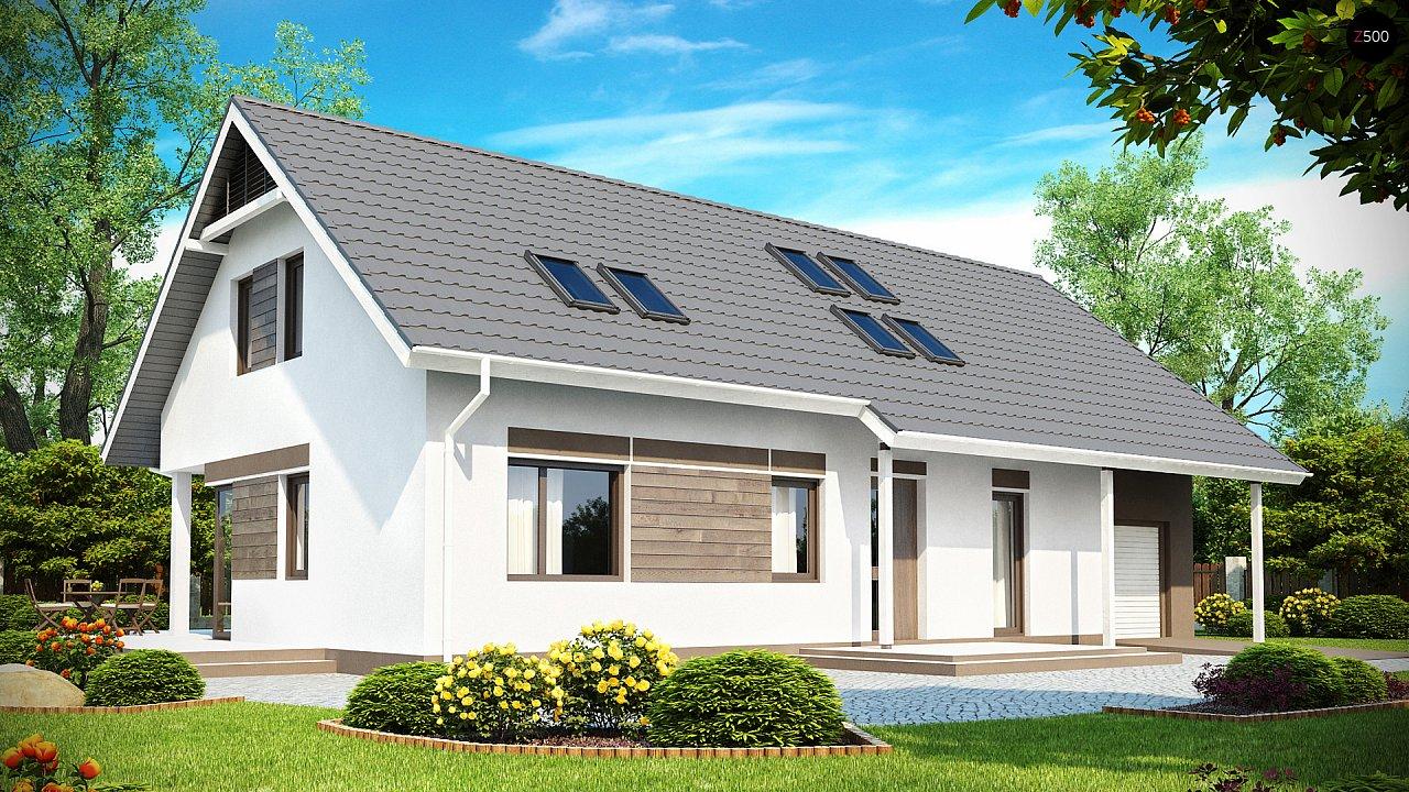 Комфортабельный дом со встроенным гаражом, угловой террасой и кабинетом на первом этаже. - фото 1