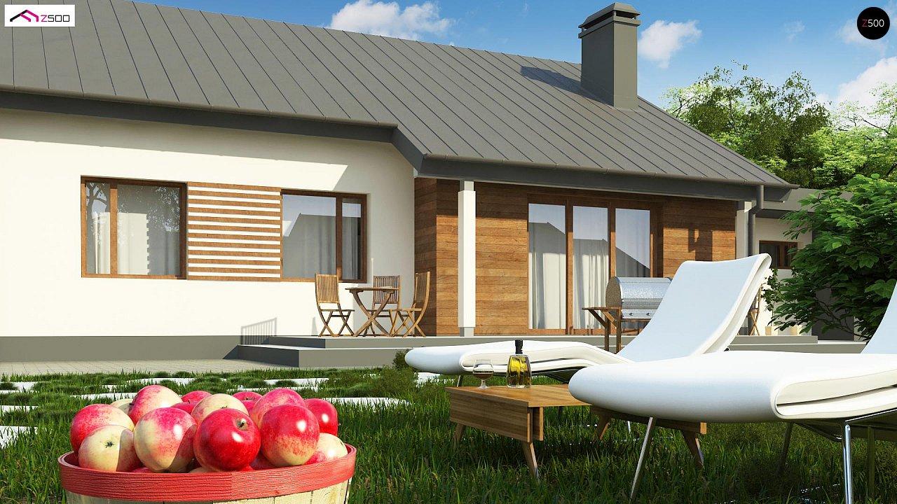 Дом, выполненный в традиционном стиле с одноуровневой планировкой. 3