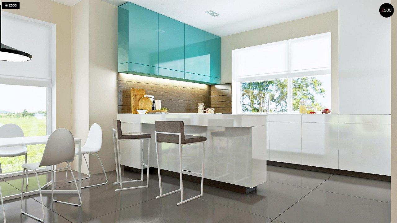 Проект практичного дома с большим хозяйственным помещением, с кабинетом на первом этаже. 8
