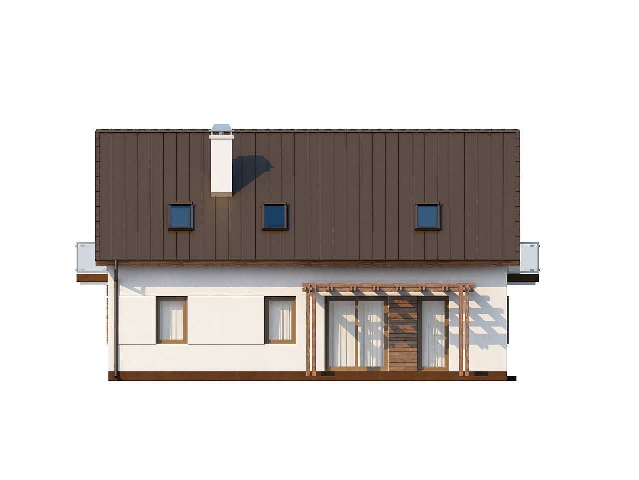 Практичный дом с мансардой, встроенным гаражом и дополнительной спальней на первом этаже. - фото 4