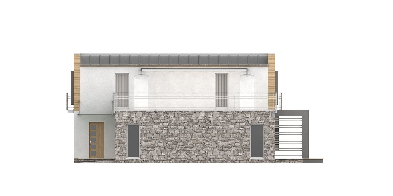 Оригинальный дом в современном стиле с обширной террасой над гаражом. - фото 8