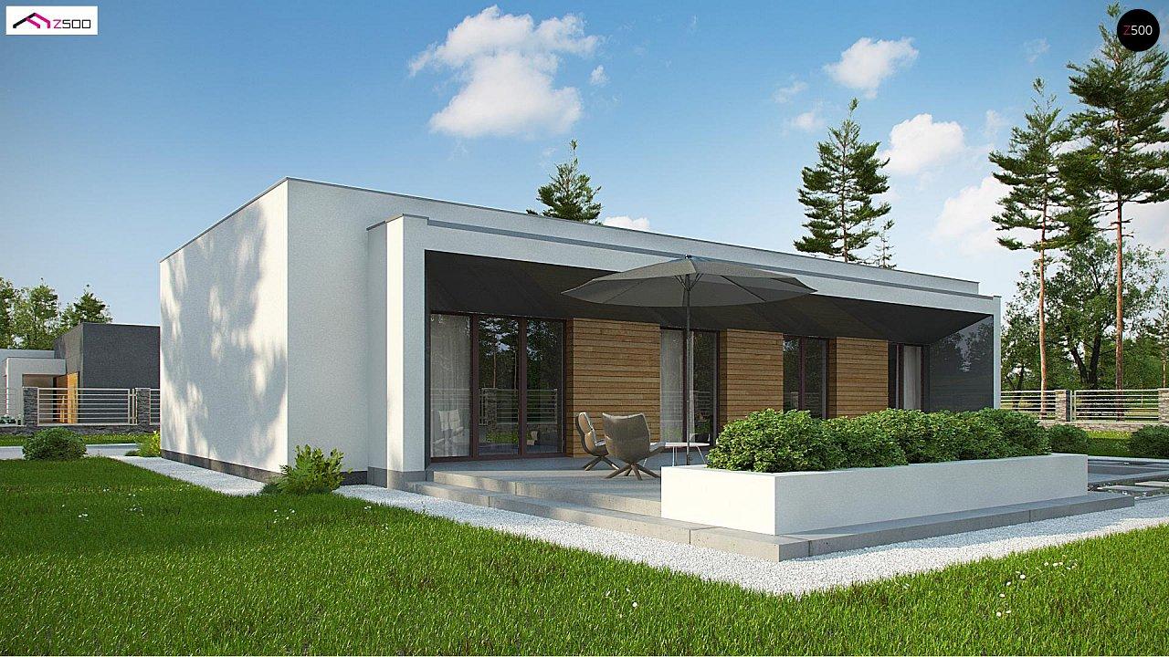 Современный плоскокровельный дом с компактной и удобной планировкой 2