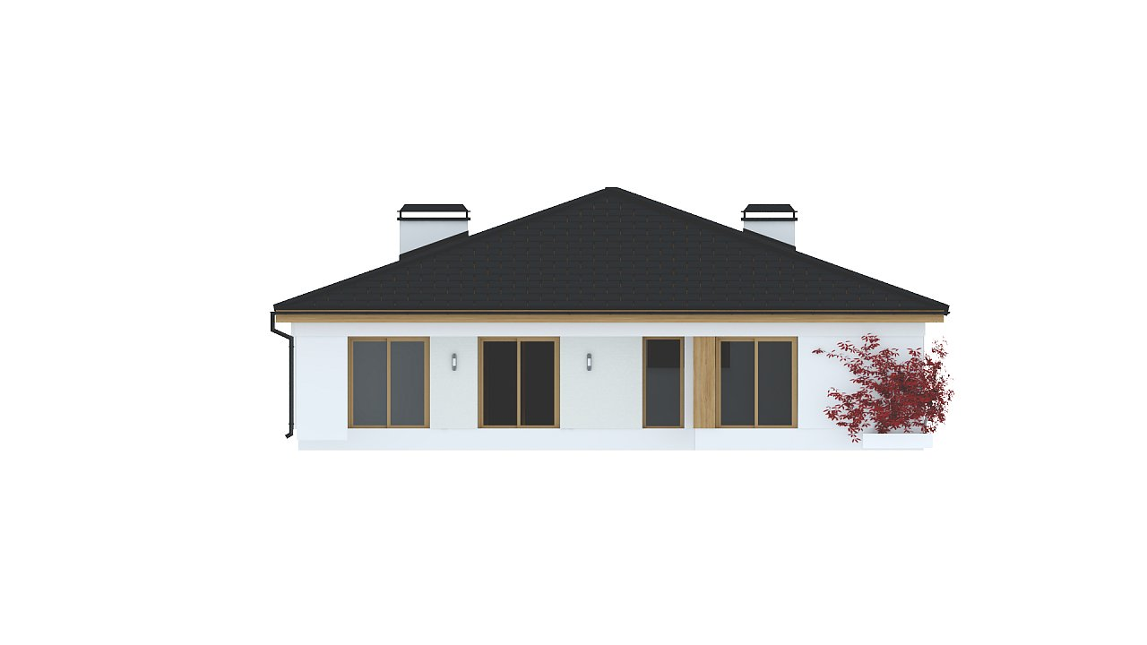Практичный одноэтажный дом с четырьмя спальнями и гаражом. 24