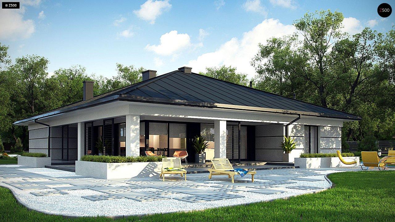 Проект одноэтажного дома с гаражом на две машины - фото 4