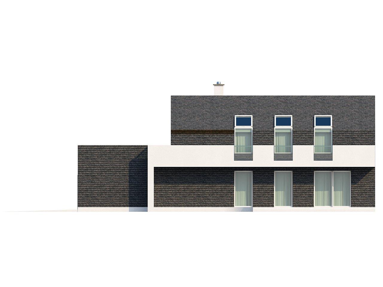 Современный эксклюзивный дом с каменной облицовкой, подходящий для узкого участка. 17