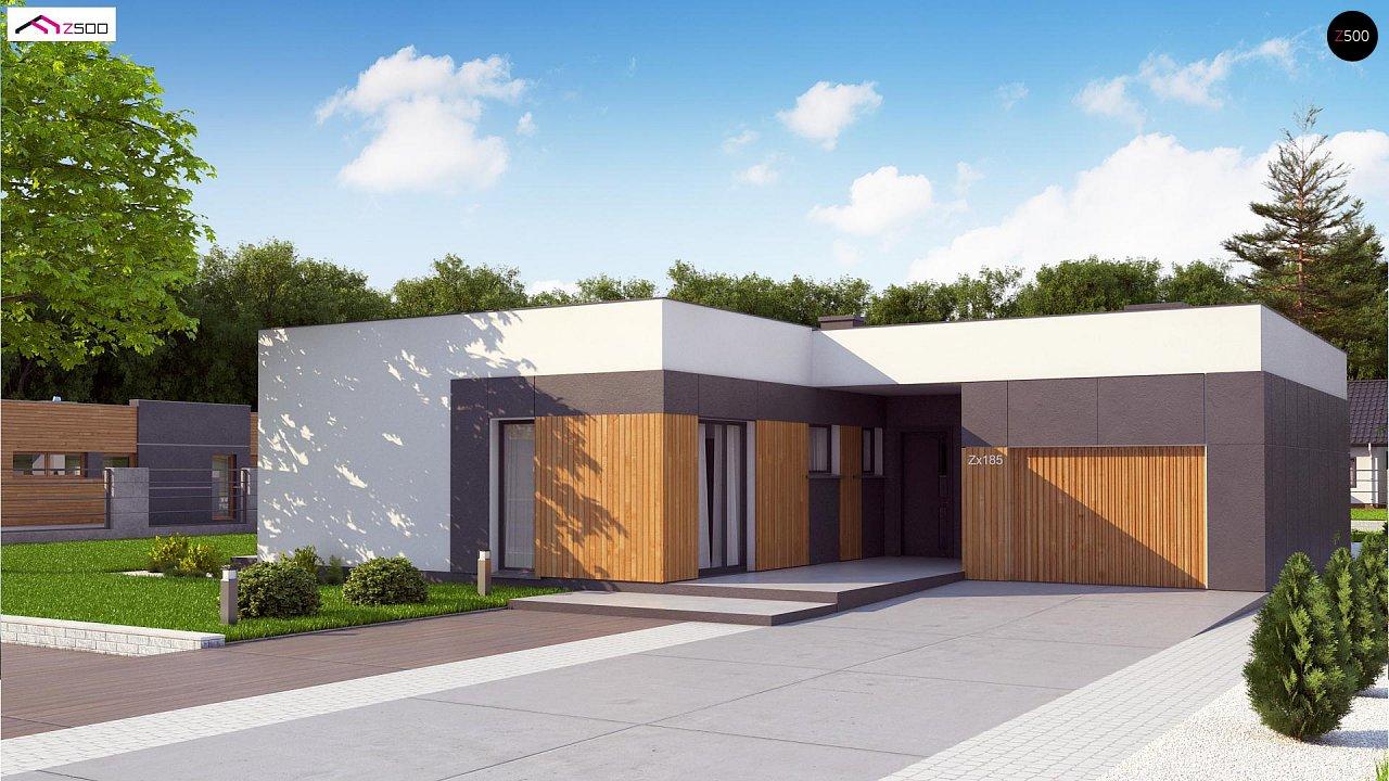 Проект стильного одноэтажного дома в современном стиле 4