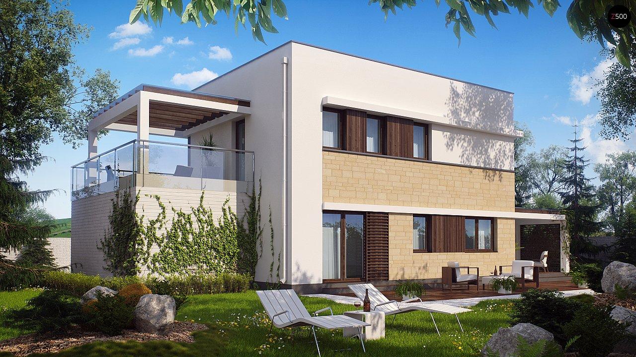 Современный элегантный дом с гостиной с фронтальной стороны. - фото 3