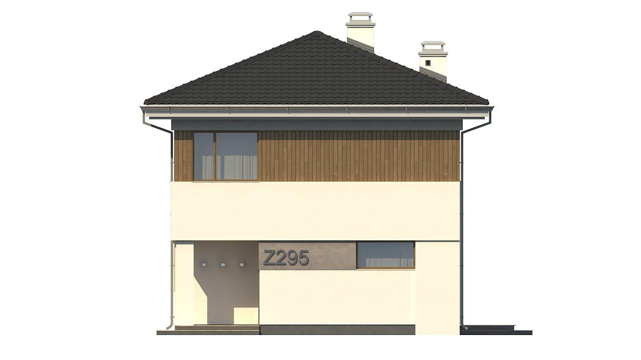 Проект компактного двухэтажного дома строгого современного стиля. 21