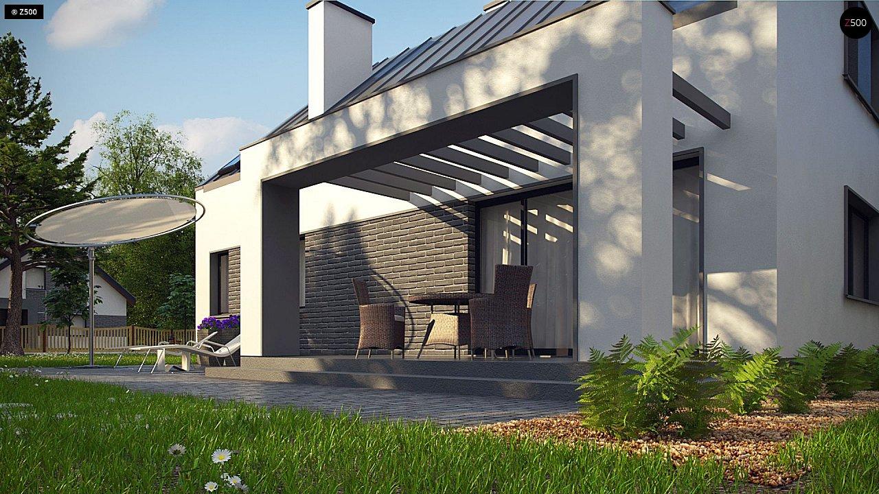Проект мансардного с тремя спальнями и двускатной крышей 4