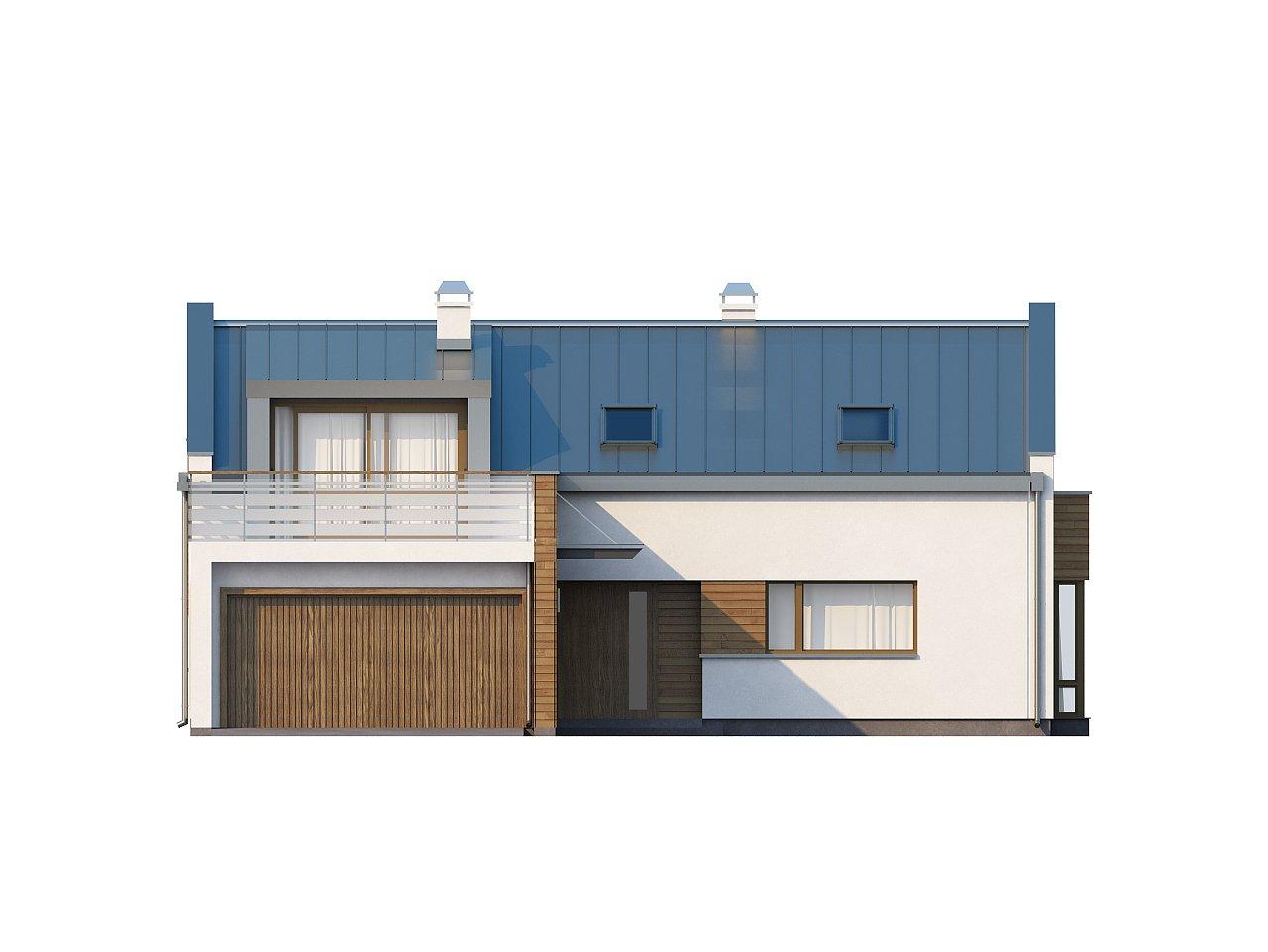 Элегантный просторный дом современного дизайна с пятью спальнями и террасой на втором этаже. - фото 3