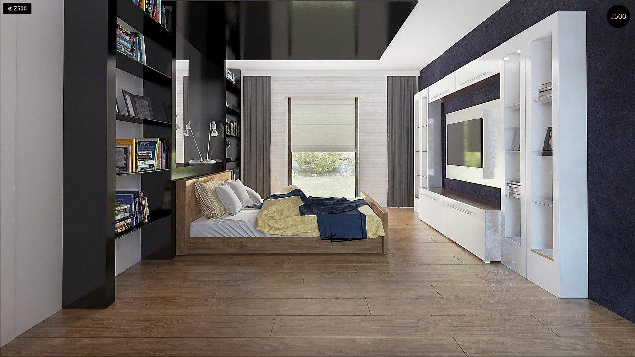 Одноэтажный комфортный дом в стиле хай-тек. 21