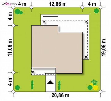 Увеличенная версия компактного дома z377 план помещений 1